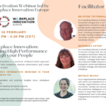 "Invitation Webinar ""Workplace Innovation: Building High Performance through your People"""